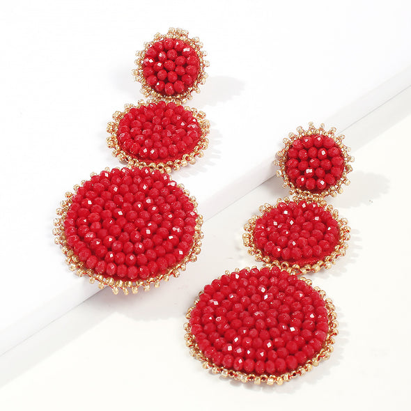 Beaded Geometric Earring