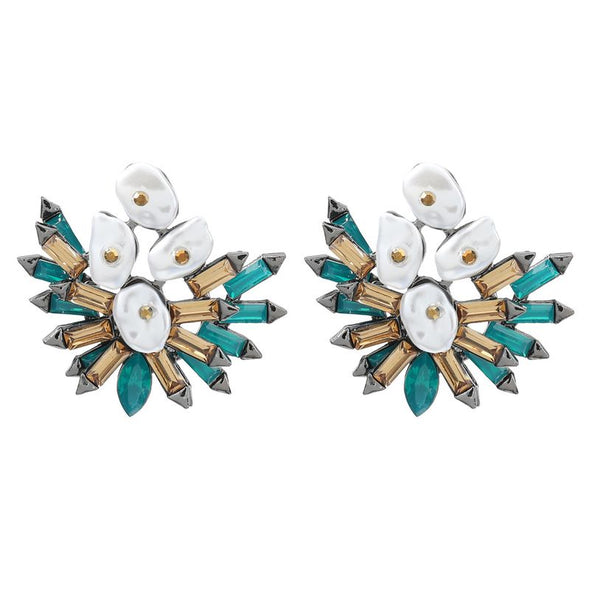 Gem Flower Earring