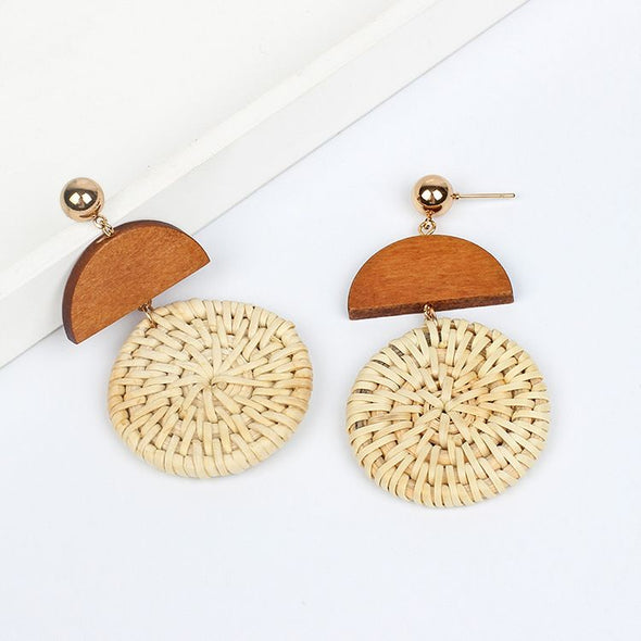 Retro Straw Earring