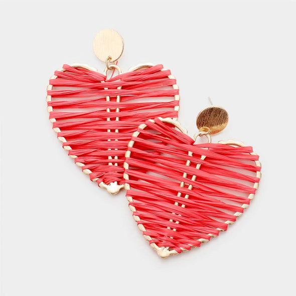 Wrapped Heart Earrings
