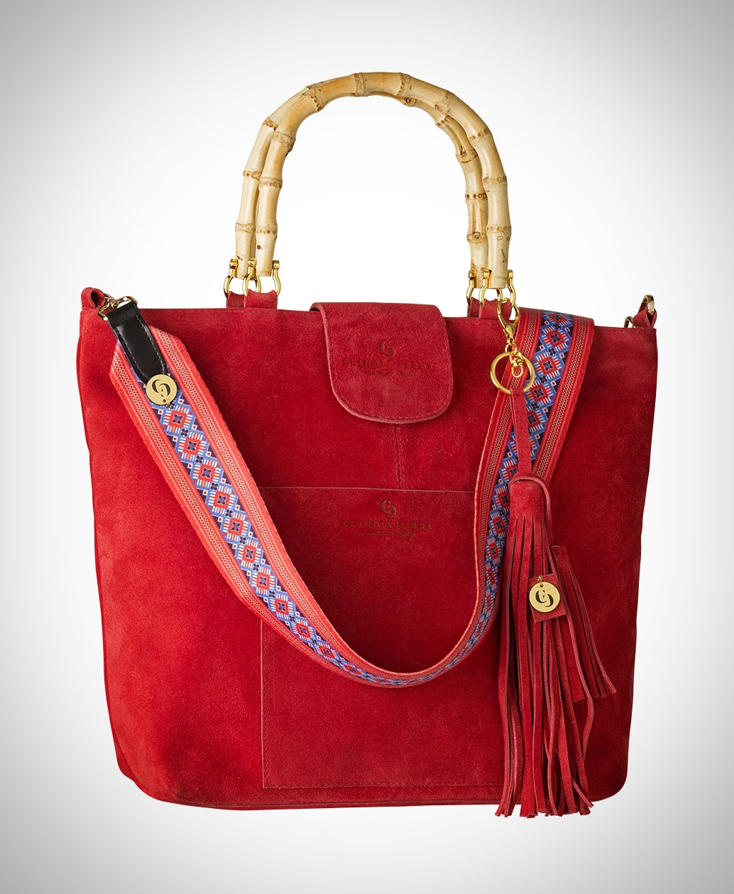 Coral red Voyage Bag - Claudia Cerda