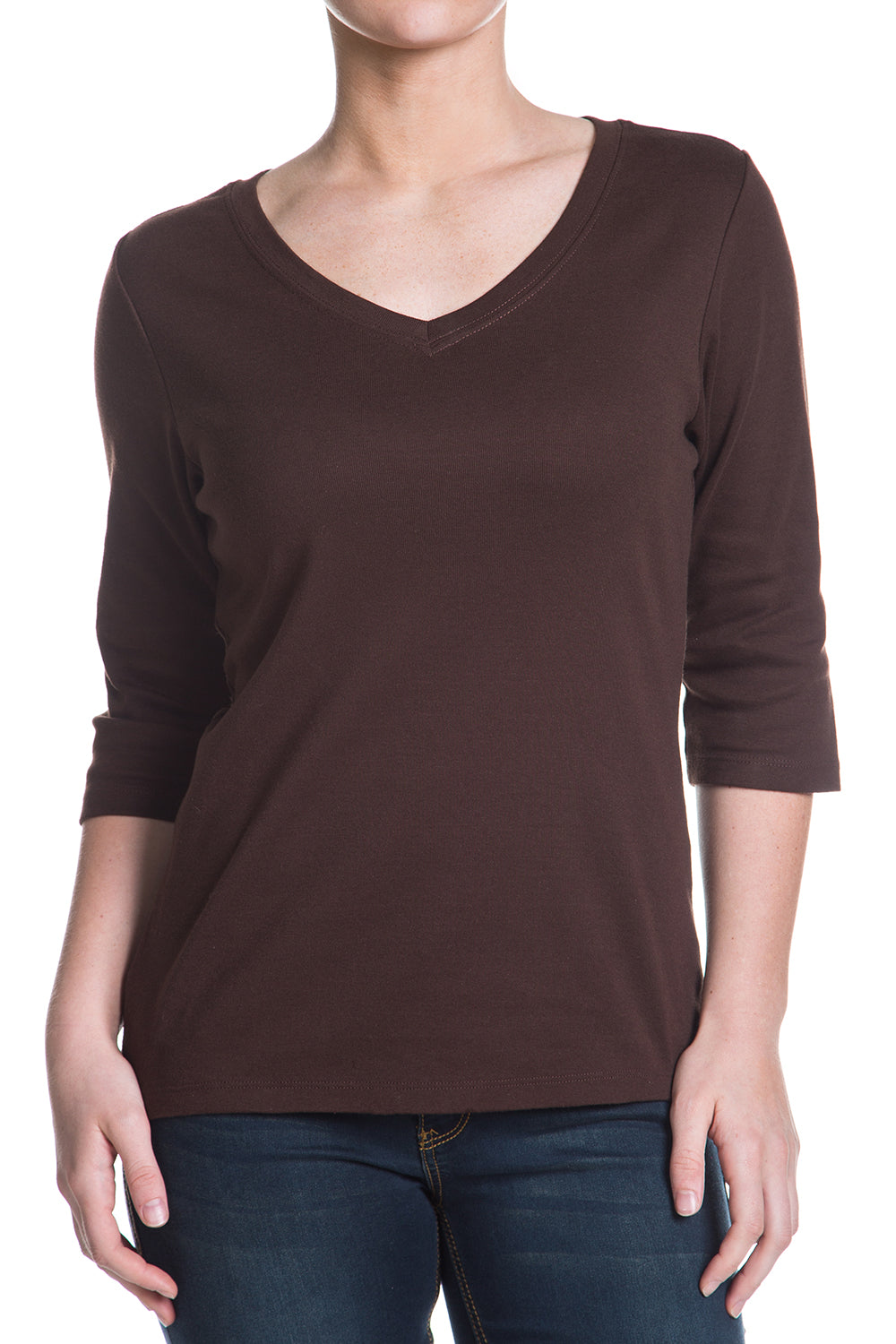 Type 3 Brown 3/4 Sleeve Hot-T