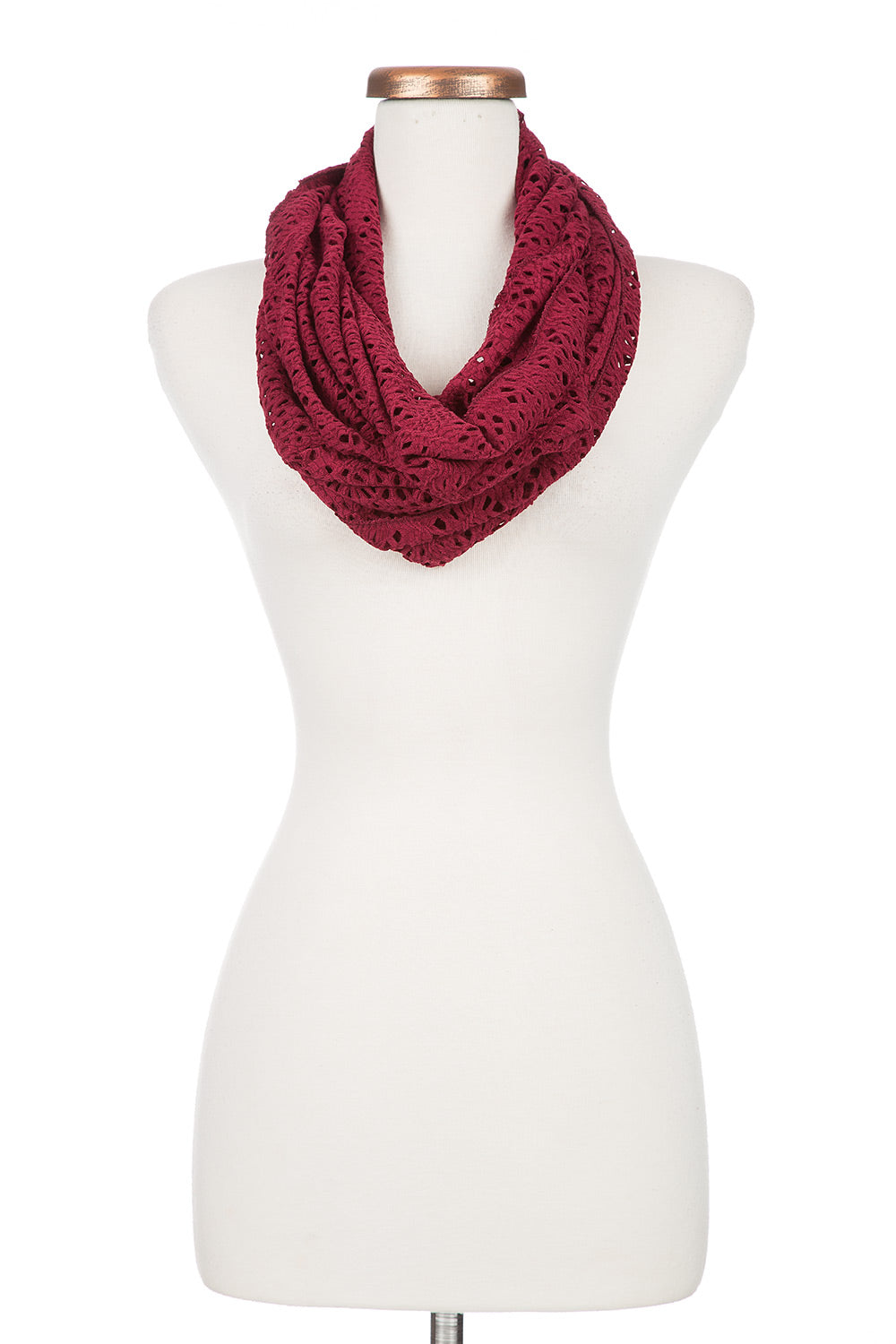 Type 3 Cranberry Cutout Infinity Scarf