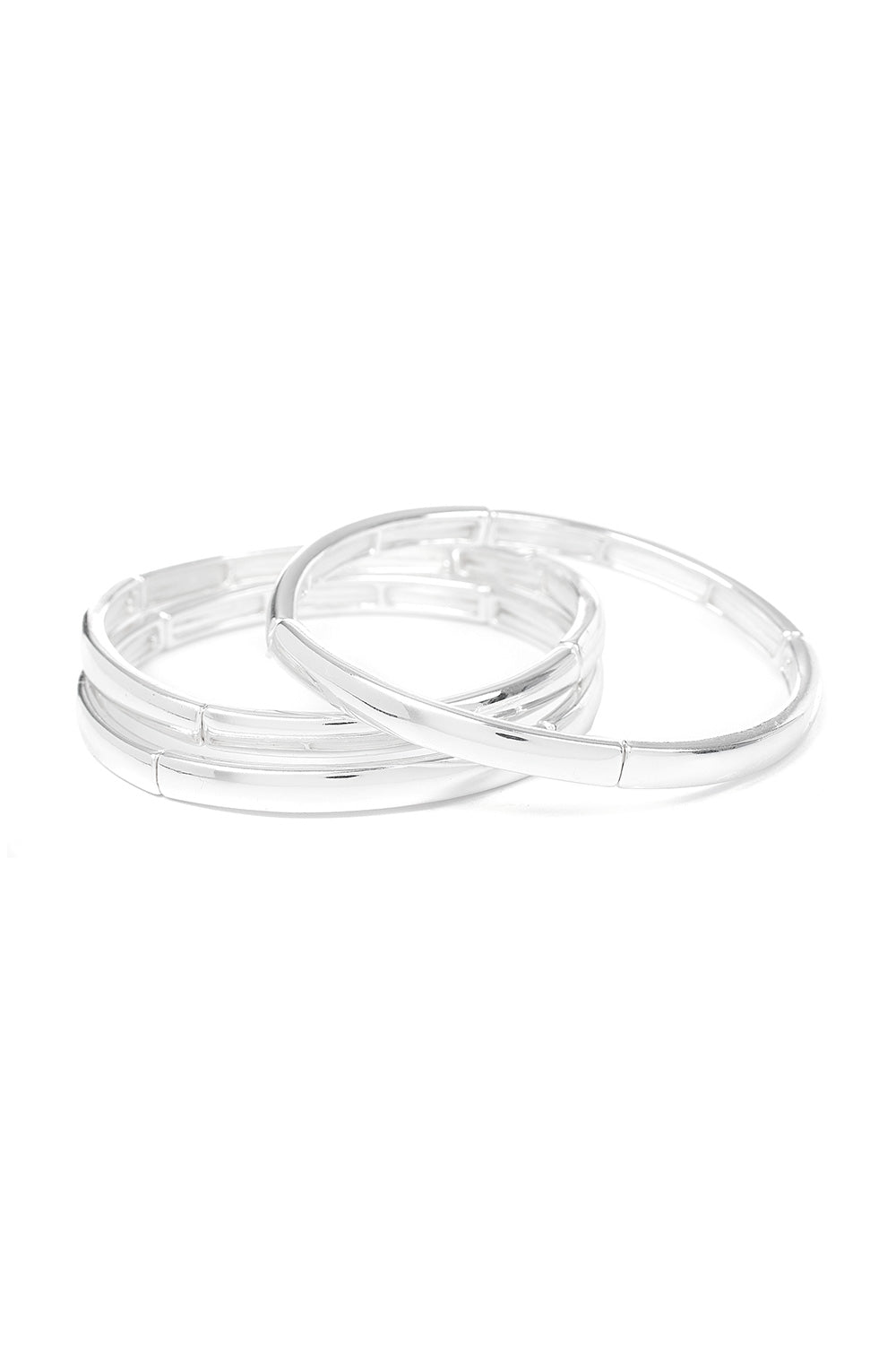Type 4 Silver Trio Bracelet Set