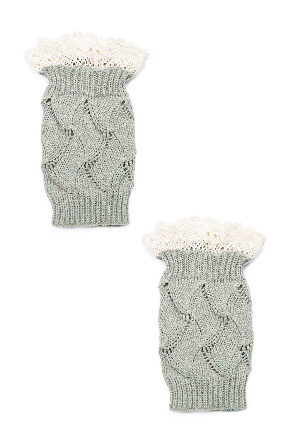 Type 2 Lovely Lace Boot Toppers in Sage