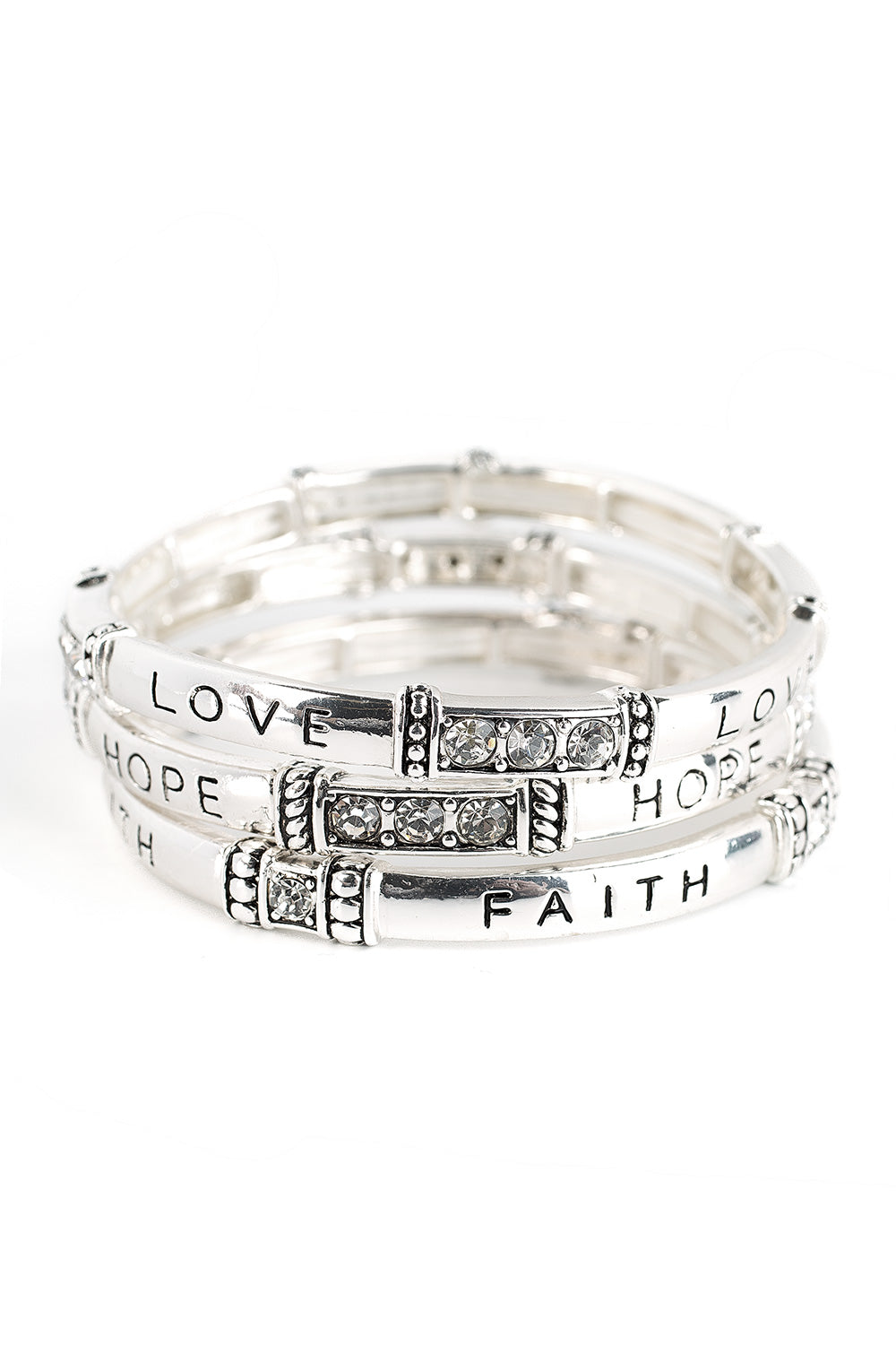 Type 2 Faith, Hope, and Love Bracelet