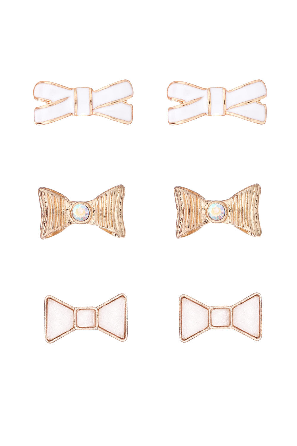 Type 1 Gold Bows Earring Set