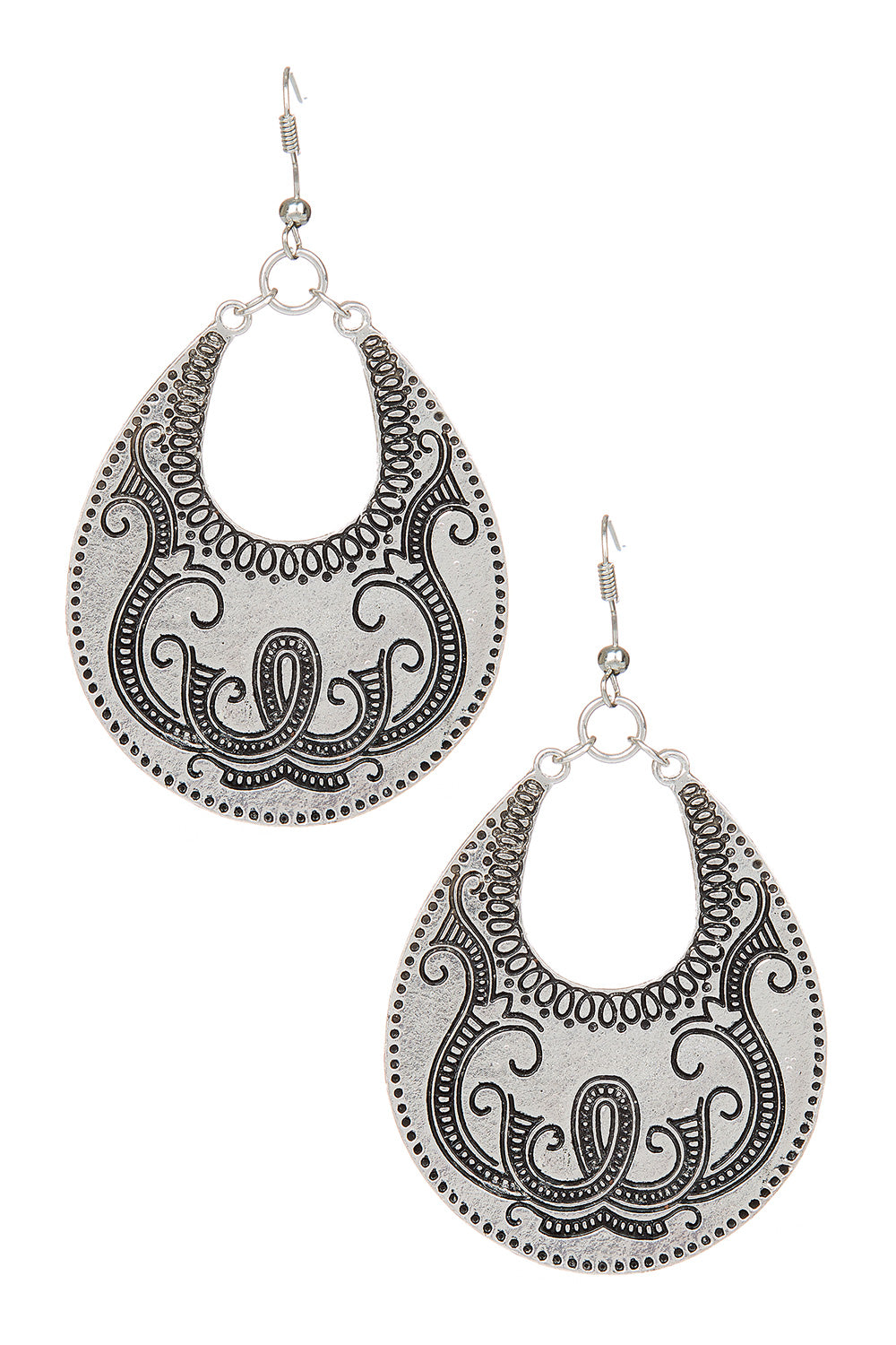 Type 2 Gondola Earrings in Silver