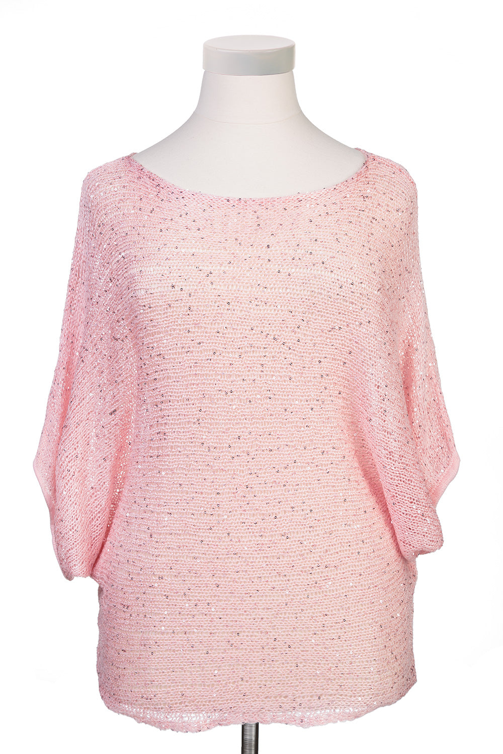 Type 1 Breezy Sequins in Pink Sweater