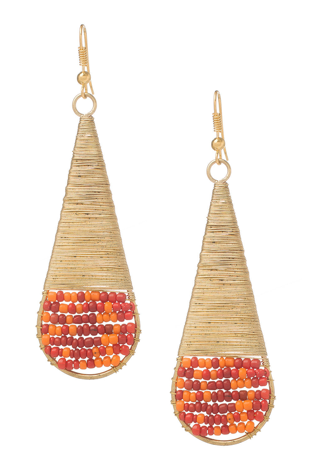 Type 3 Golden Fiery Party Earrings