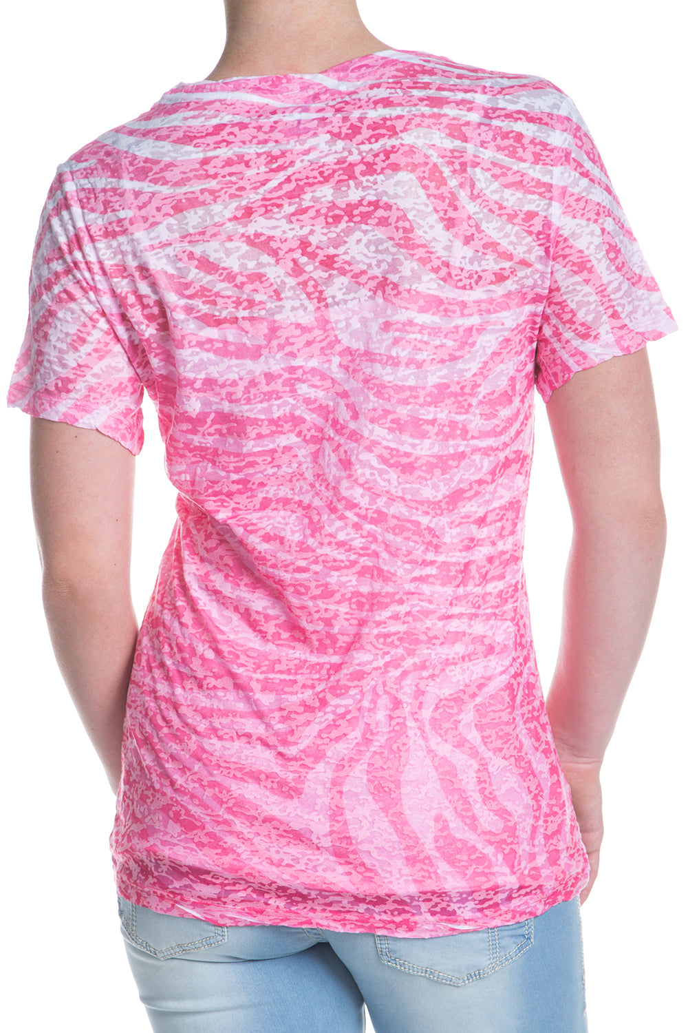 Type 1 Tiger Stripes Cute-T in Pink