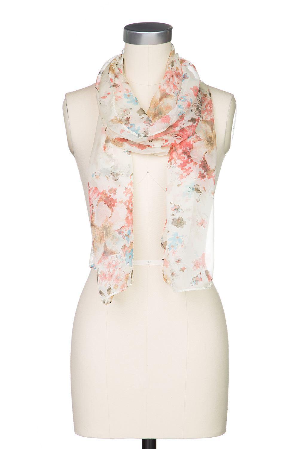 Type 2 Flowery Feelings Scarf in Cream