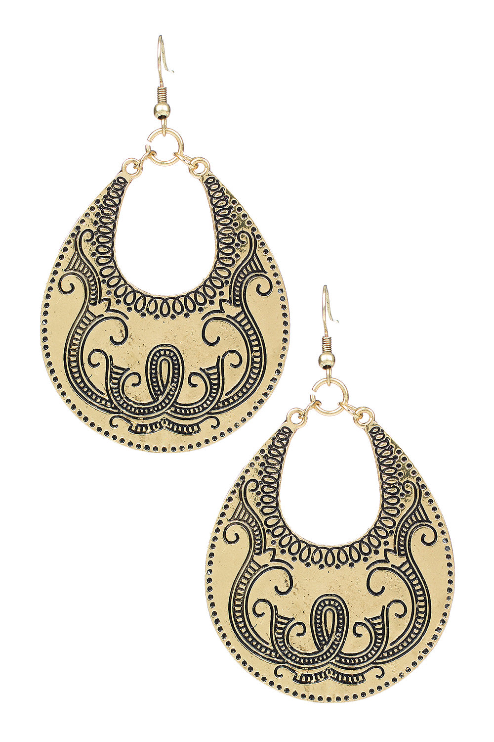 Type 3 Gondola Earrings in Gold