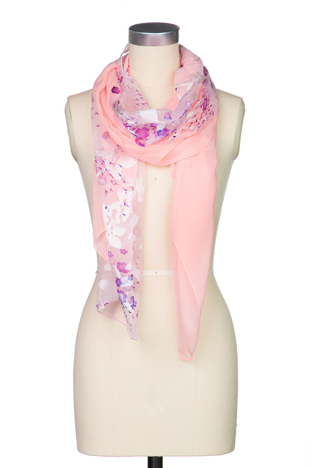 Type 2 Heavenly Flowers Scarf in Pink