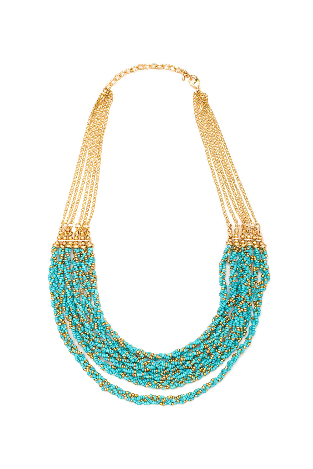 Type 3 Twisted Turquoise Necklace