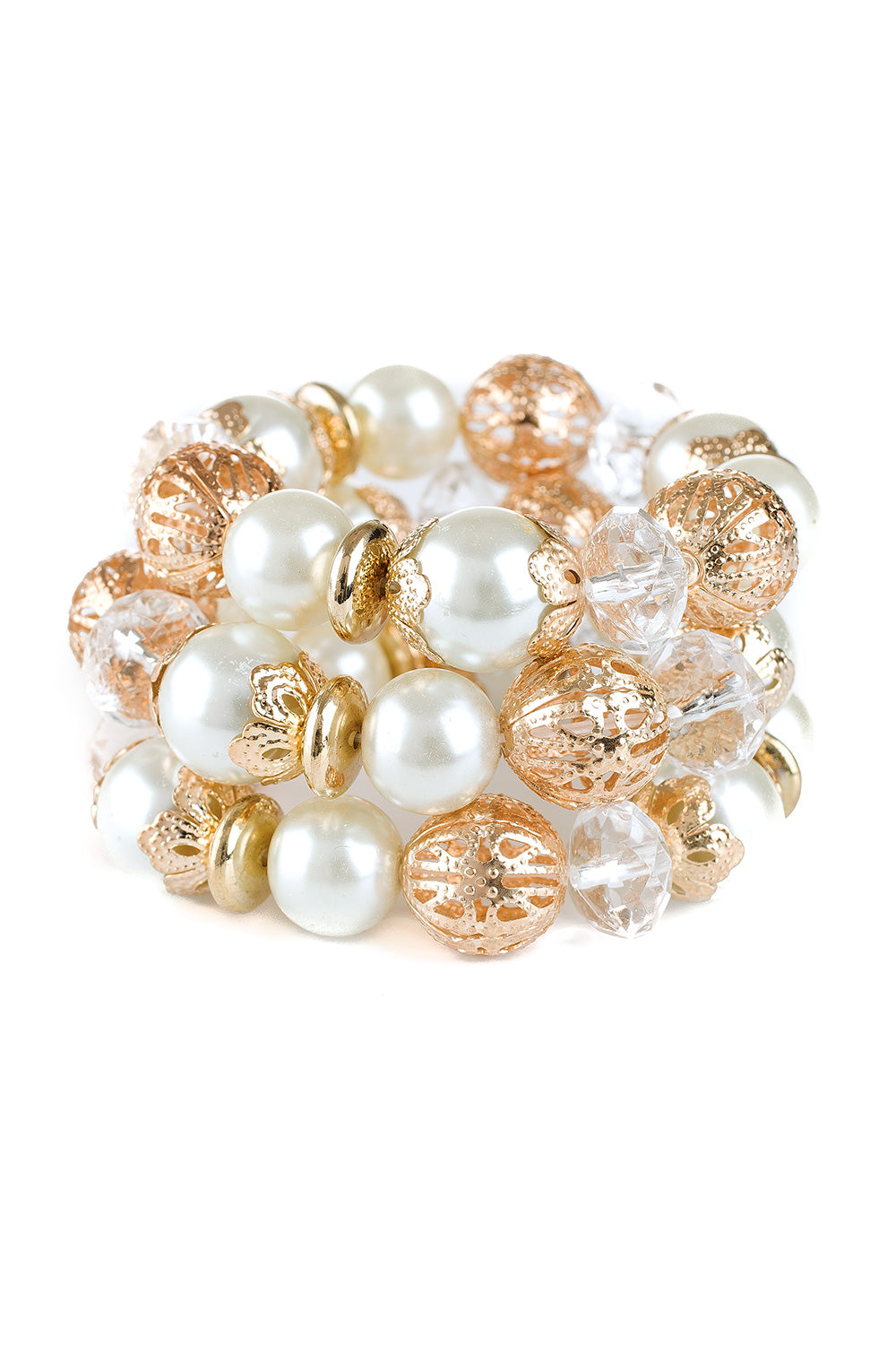 Type 1 Golden Pearl Bracelet Set