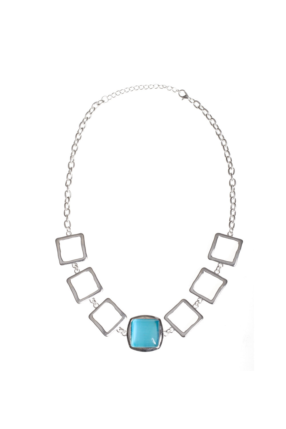 Type 4 Cyan Square Necklace