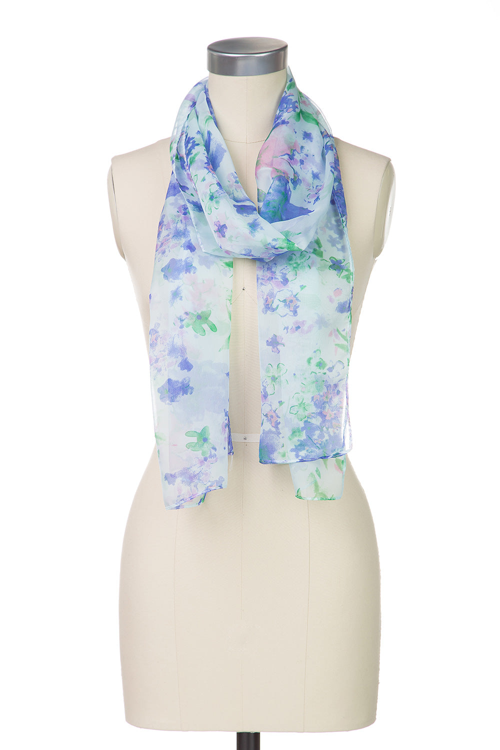 Type 2 Flowery Feelings Scarf in Blue