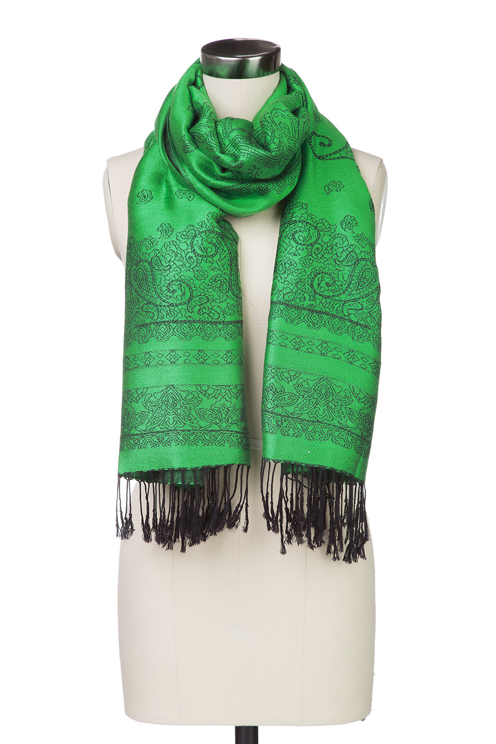 Type 4 Paisley Painting Scarf in Emerald