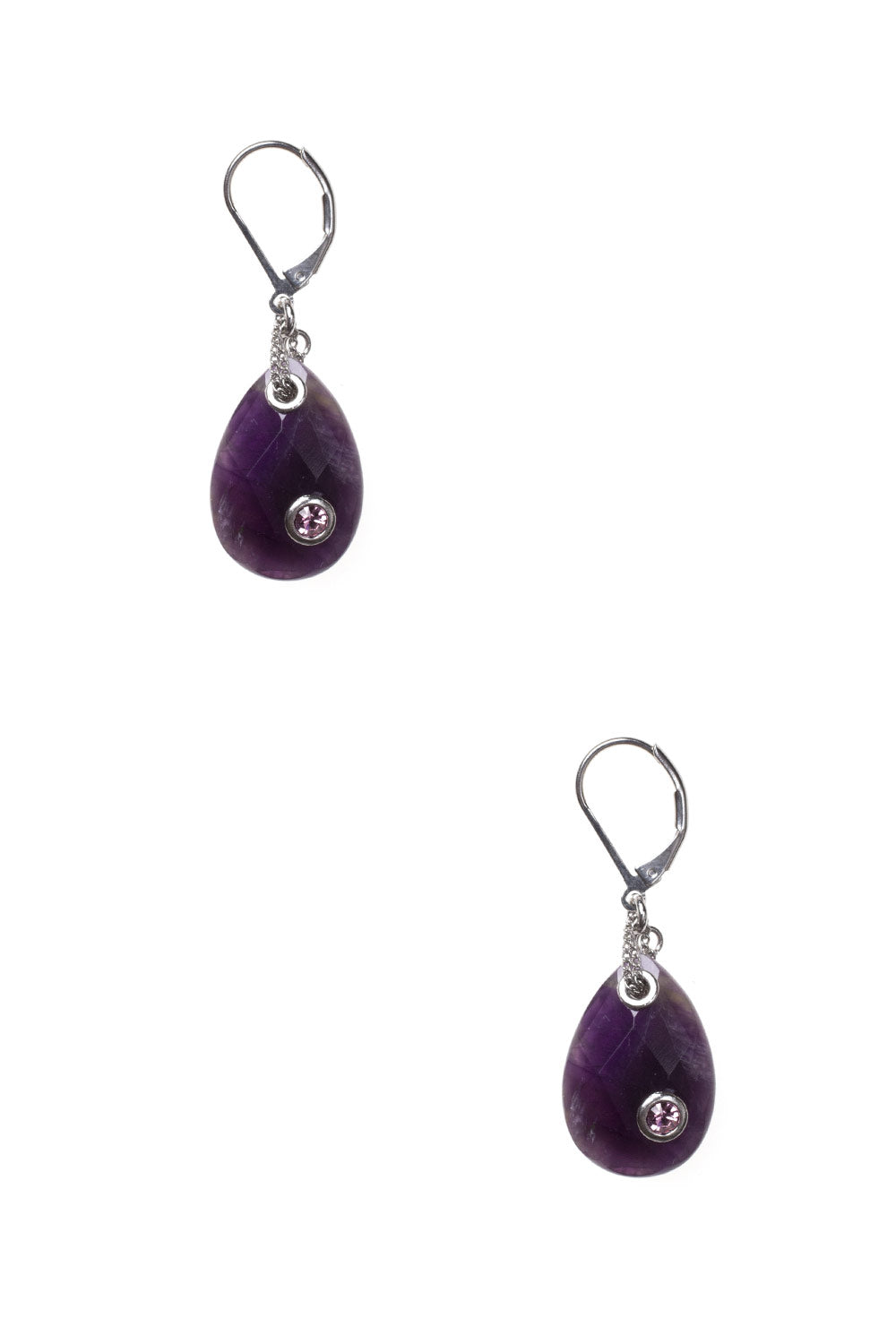 Type 2 Amethyst Dew Earrings