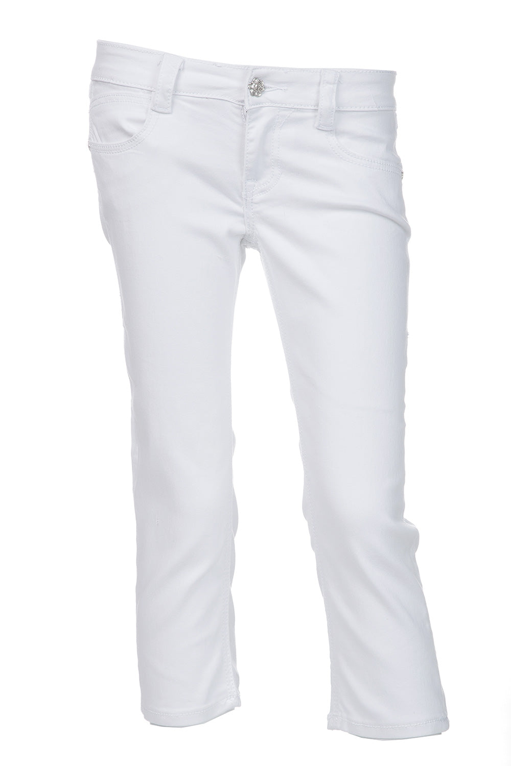 Type 4 Pure White Capri Pants