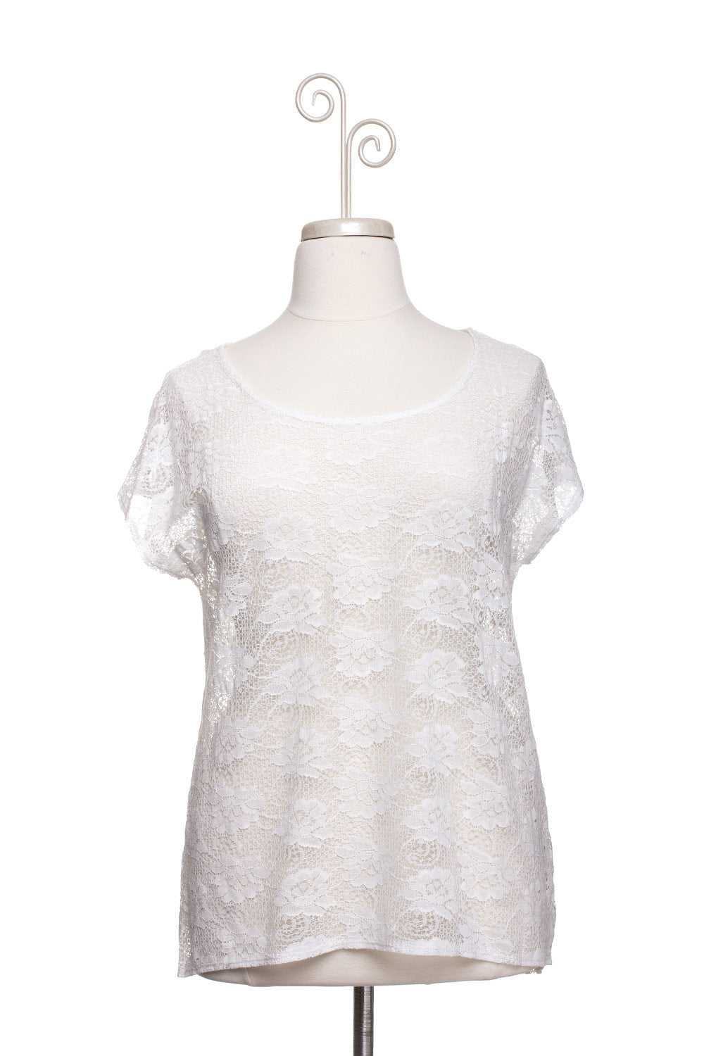Type 1 Doily Top in White