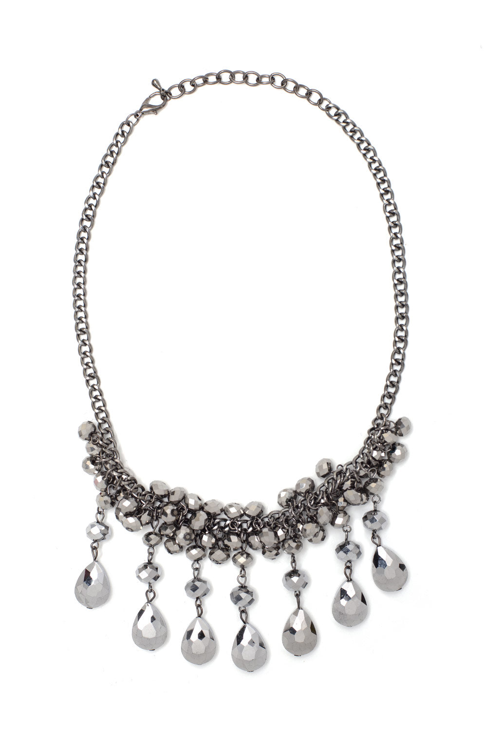 Type 2 Silver Droplets Necklace