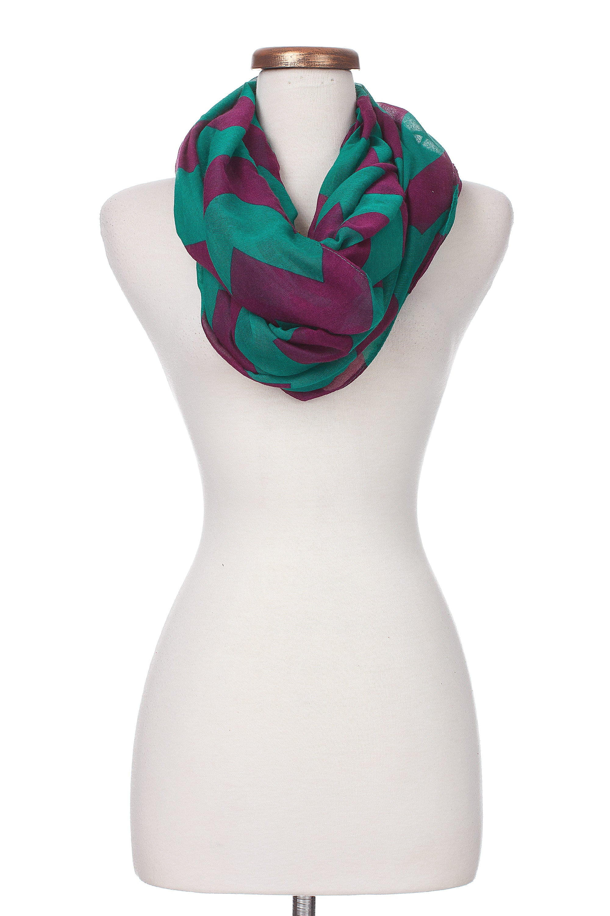 Type 3 Rich Chevron Infinity Scarf