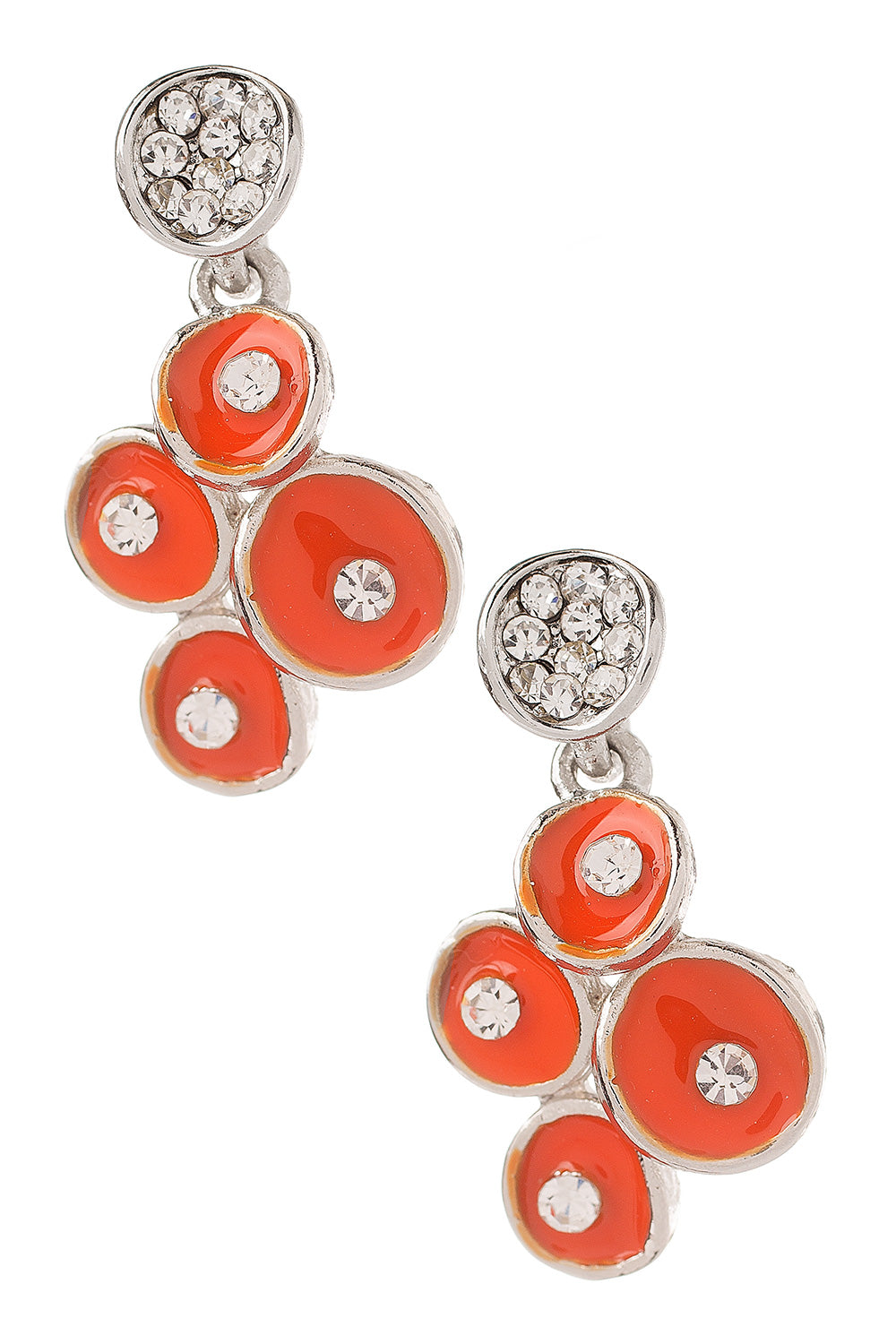 Type 4 Orange Berry Sparkle Earrings