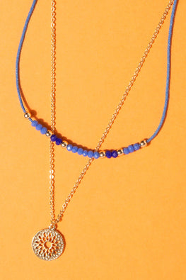 Type 1 Bright Blue Sky Necklace