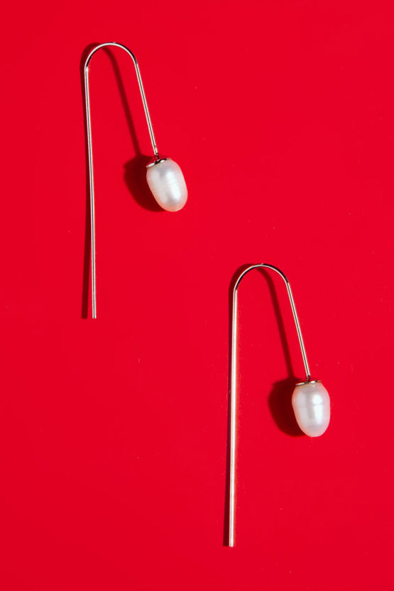 Type 4 Fresh Pearl Drop Earrings