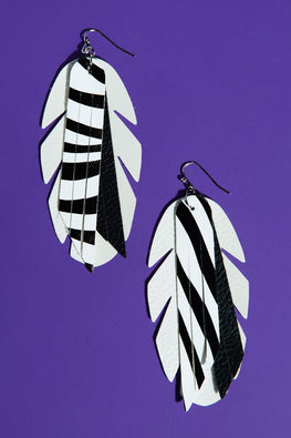 Type 4 Leaves and Stripes Forever Earrings