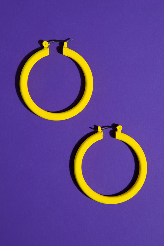 Type 4 Yellow Alert Earrings