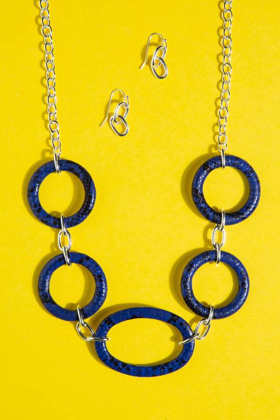 Type 4 Blue My Mind Necklace/Earring Set
