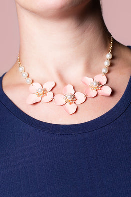 Type 1 Peachy Petals Necklace
