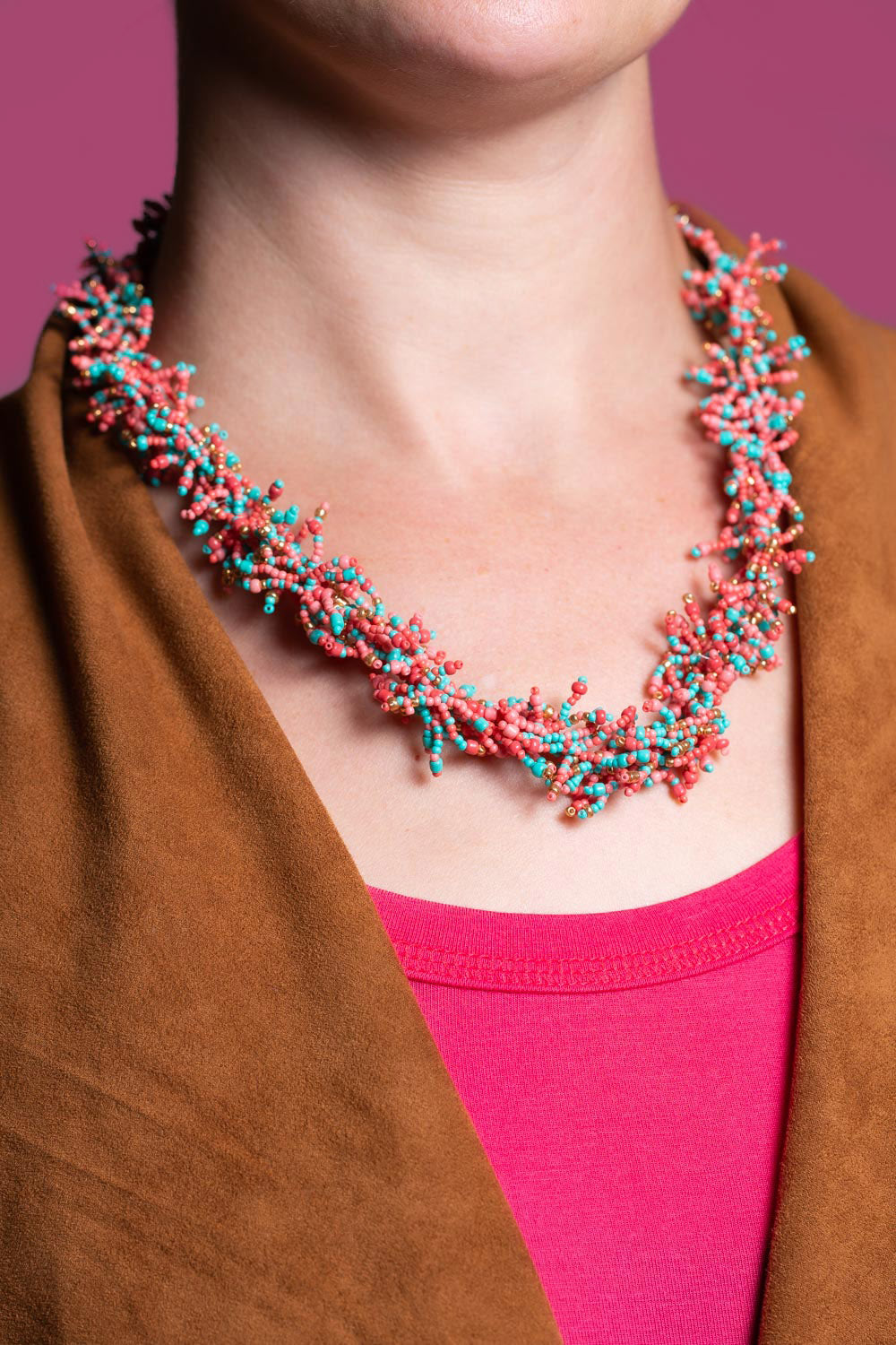 Type 3 Coral Sea Necklace/Earring Set