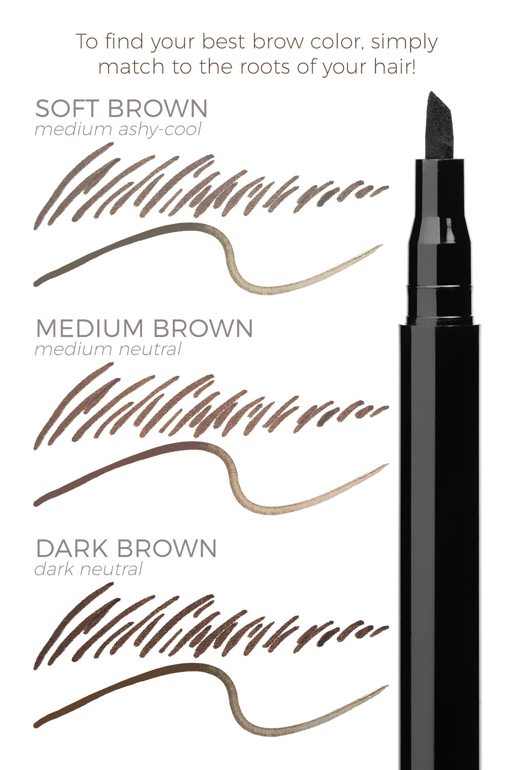 Dark Brown - Felt Tip Brow Definer Pen