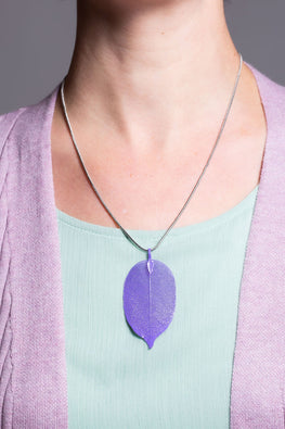 Type 2 Lavender Leaf Necklace