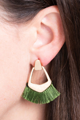 Type 3 Green is Gold Earrings