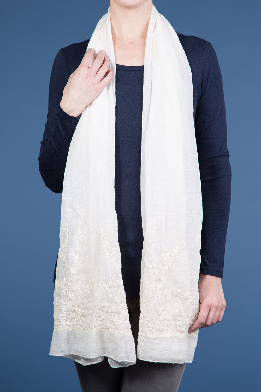 Type 2 A Healing Touch Scarf In Cream