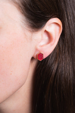 Type 3 Ruby on the Rocks Earrings