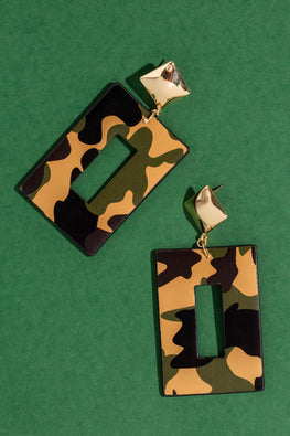 Type 3 Captivating in Camo Earrings
