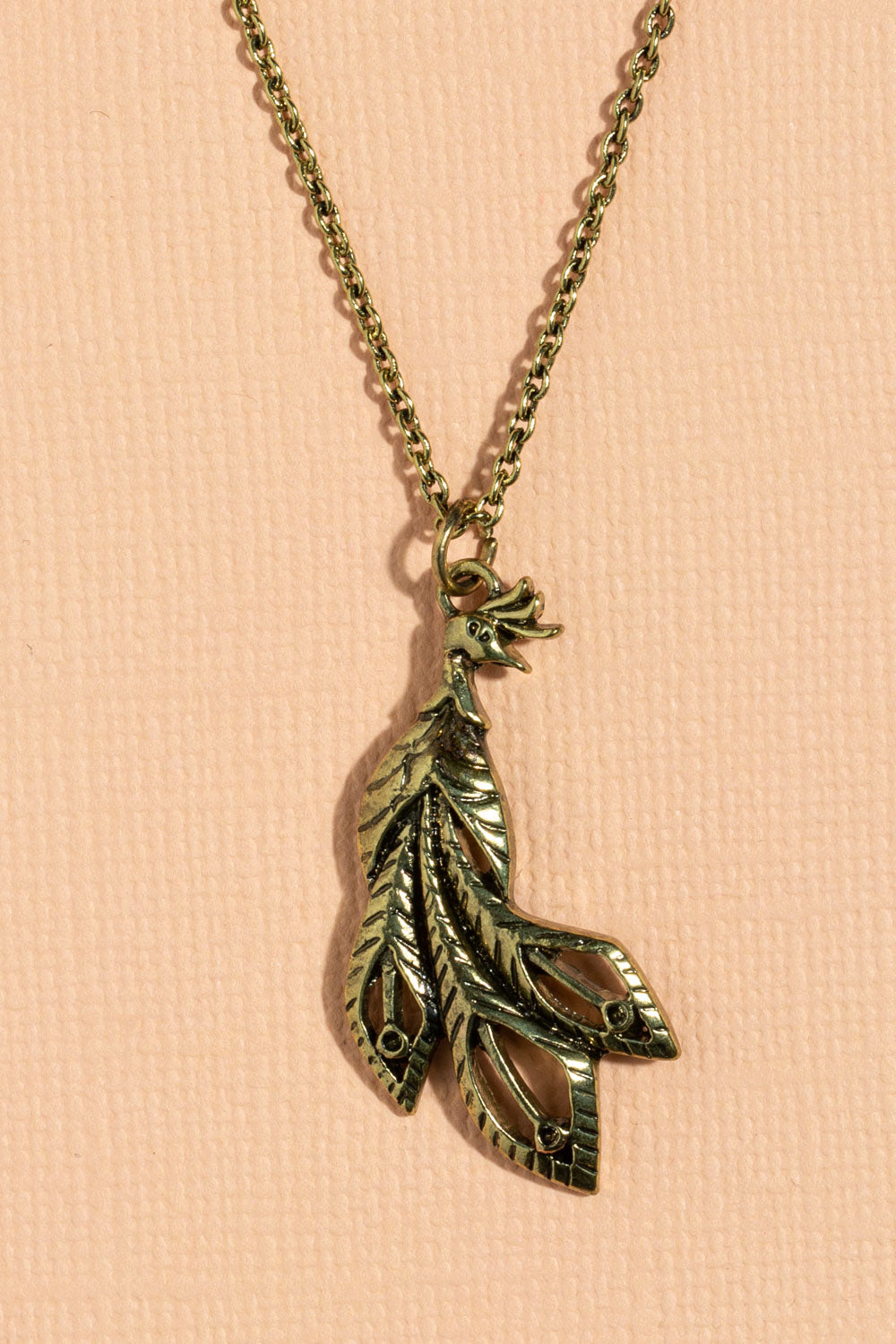 Type 3 Peacock Necklace - Gold