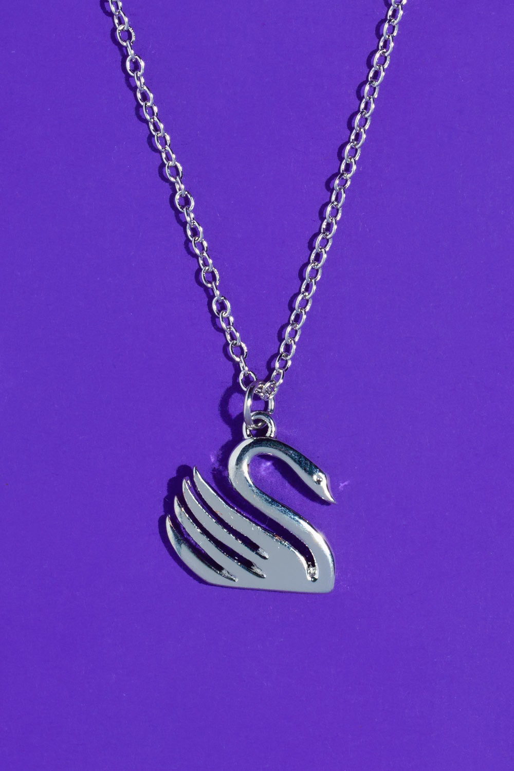 Type 4 Swan Necklace - Silver