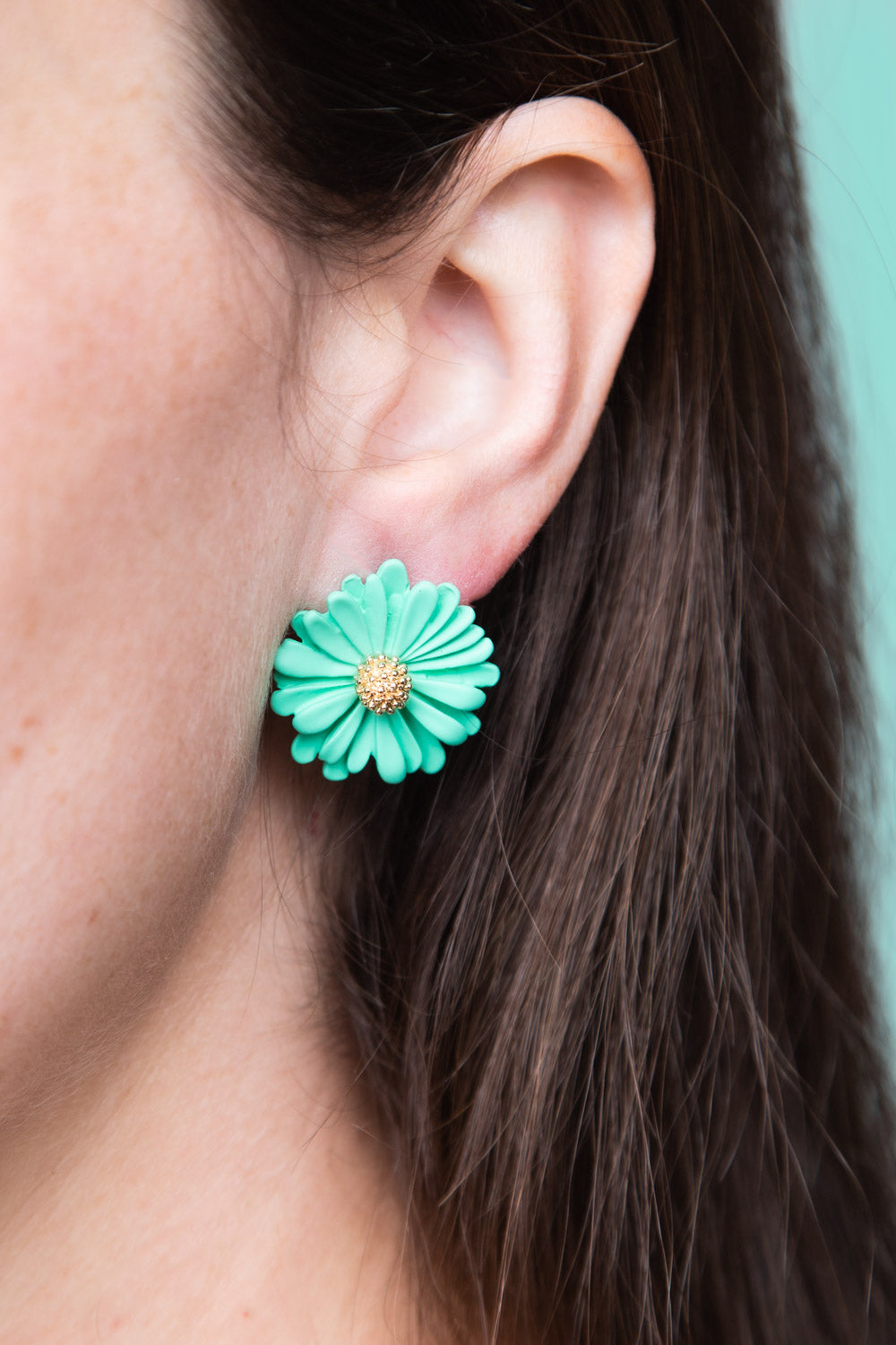 Type 1 Minty Mums Earrings