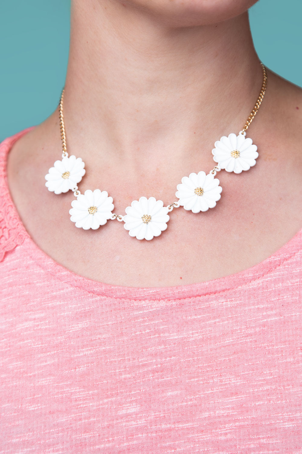Type 1 Darling Daisy Necklace/Earring set