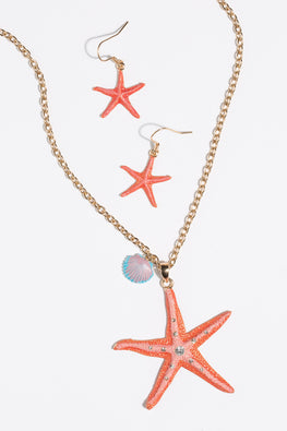 Type 1 Star Coral Necklace/Earring Set