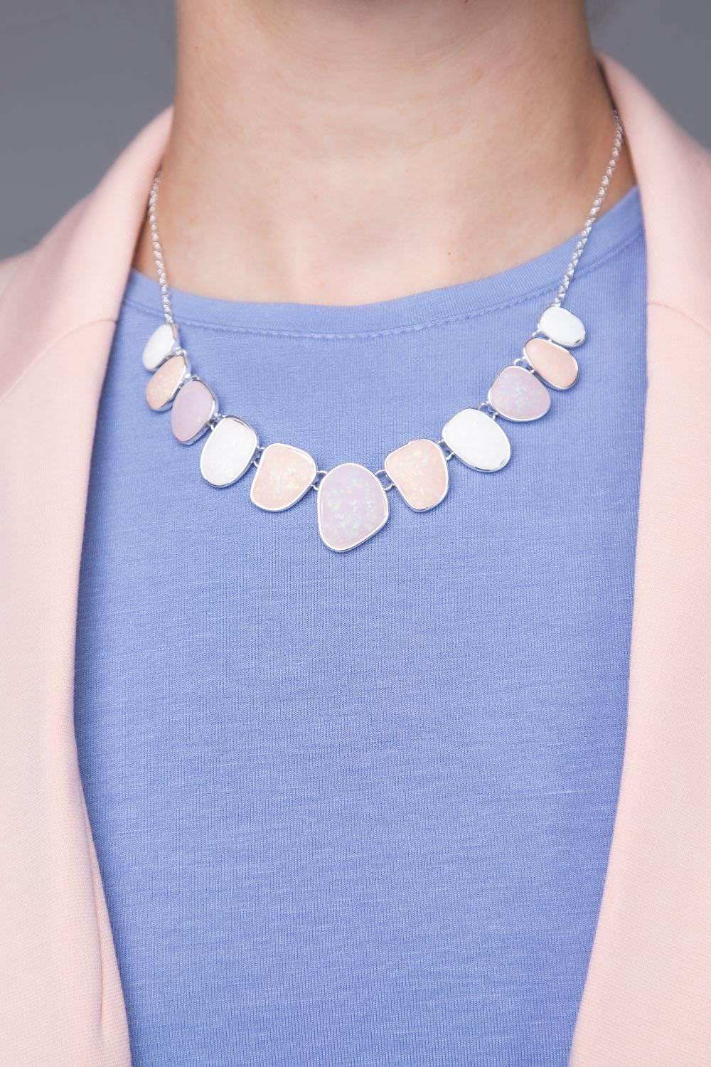 Type 2 Pebbled Path Necklace/Earring set