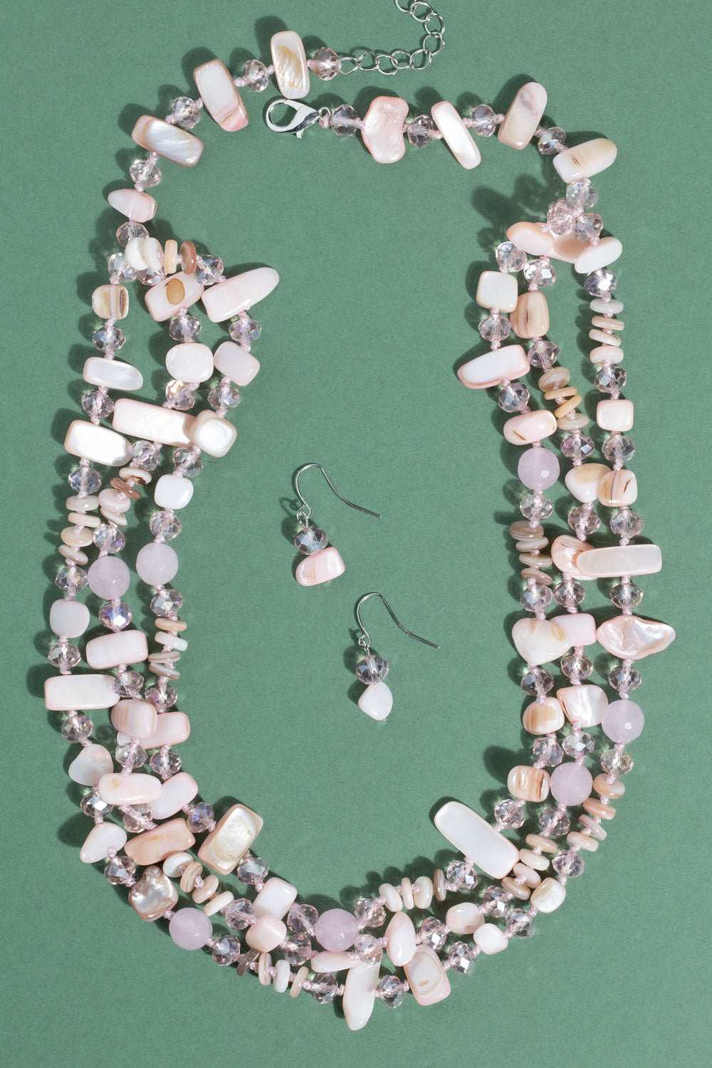 Type 2 Precious Pebbles Necklace/Earring set