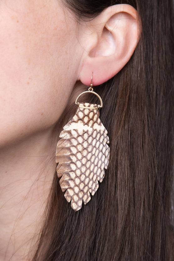Type 3 Camp Pine Cone Earrings